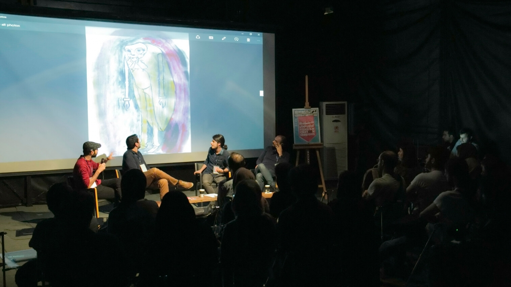 The Tehran Cartoon Sessions II held at Darbast Platform